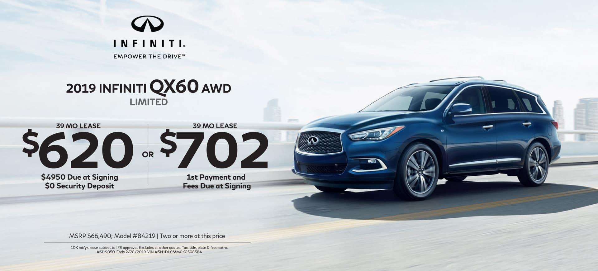 2019 INFINITI Specials QX60 3.5 AWD