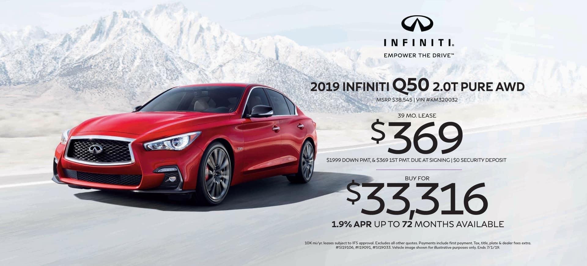 New 2019 INFINITI Q50 Header