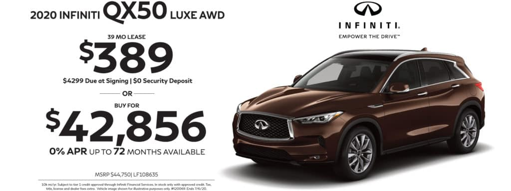 New 2020 INFINITI QX50 AWD