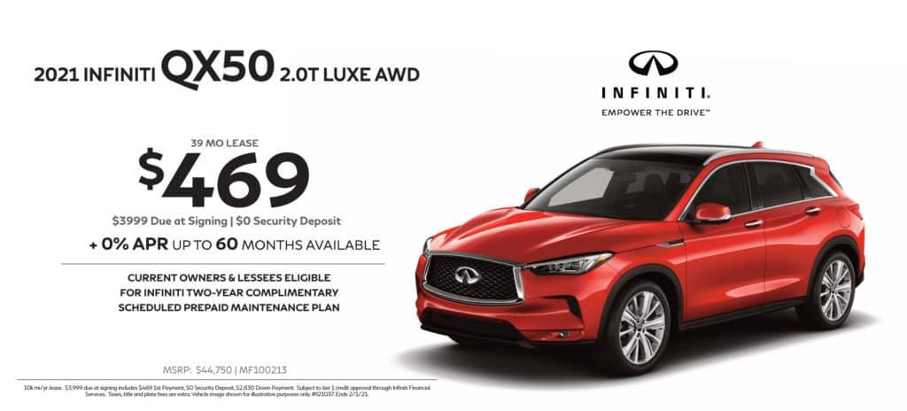 New 2021 INFINITI QX50 2.0T Luxe AWD