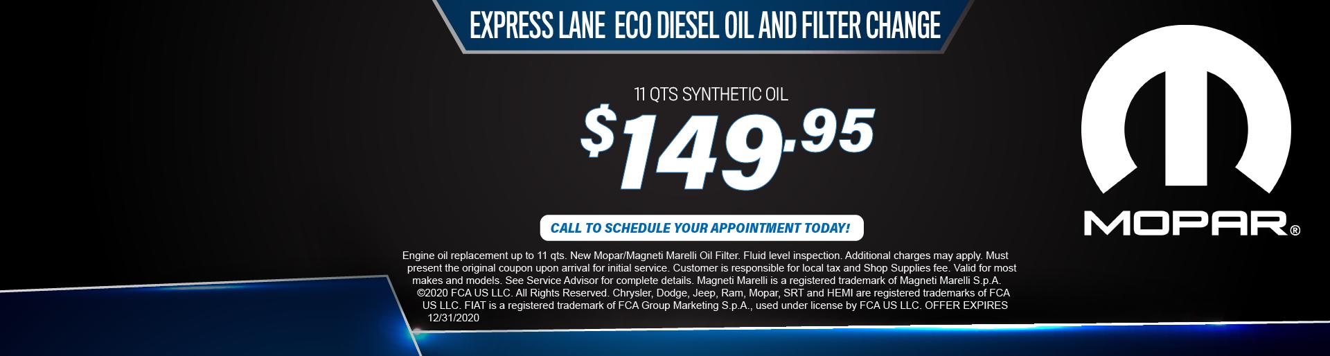Burnsville – Oil Change Coupon September