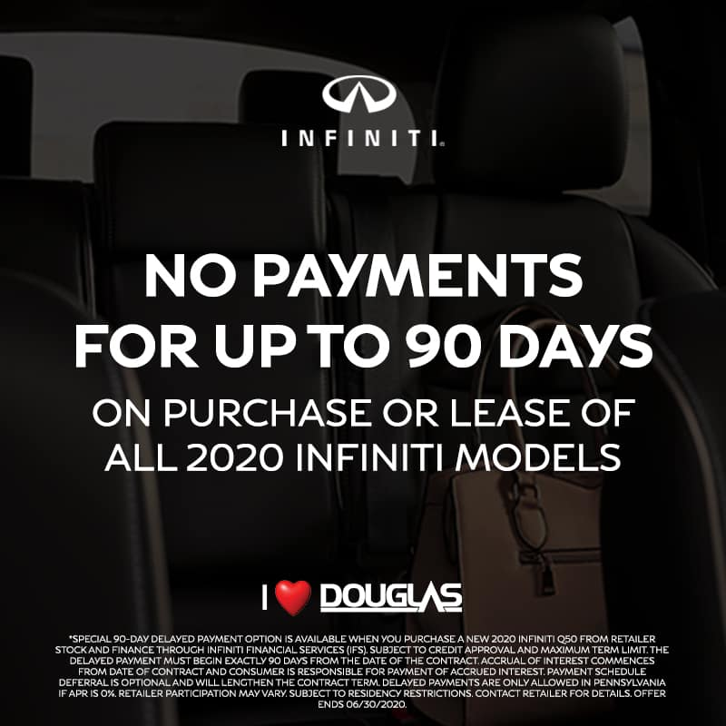 Douglas INFINITI Exclusive Offers - No Payments