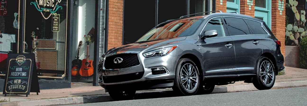 2020 INFINITI QX60 parked on the street in town