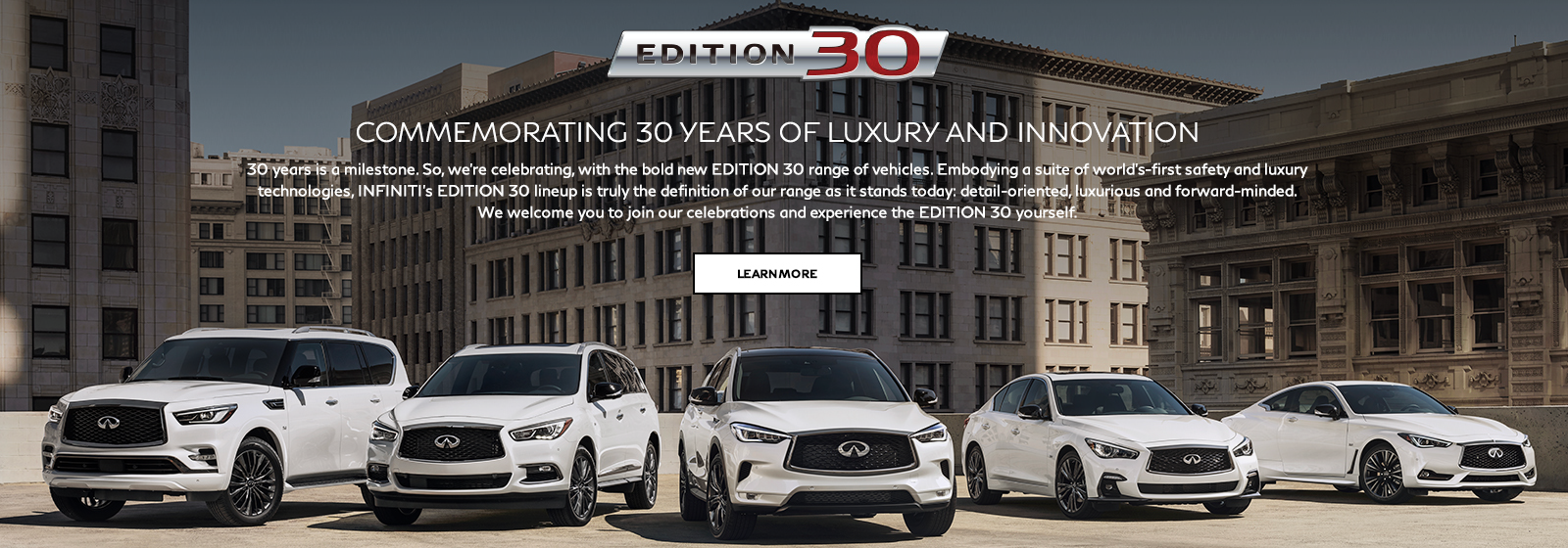 Edition 30 lineup. Image is of the Edition 30 lineup promotion.