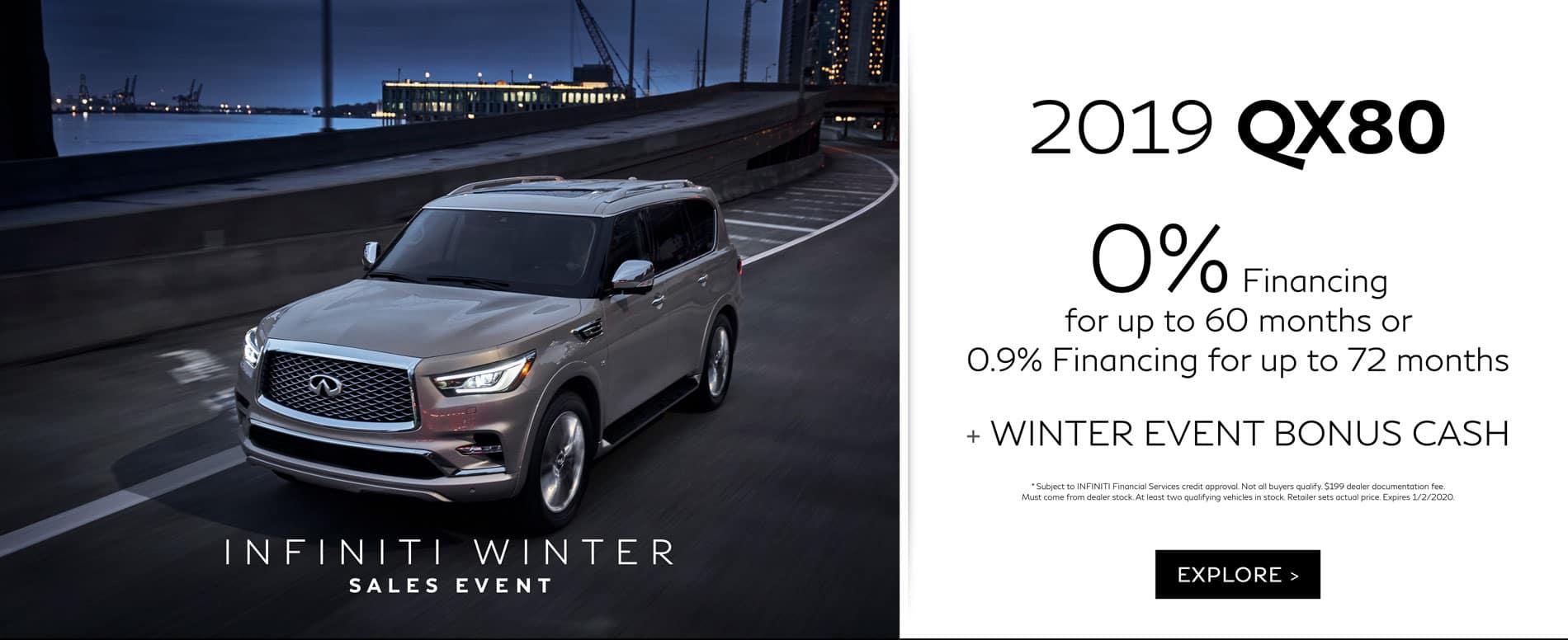 December QX80 Offers