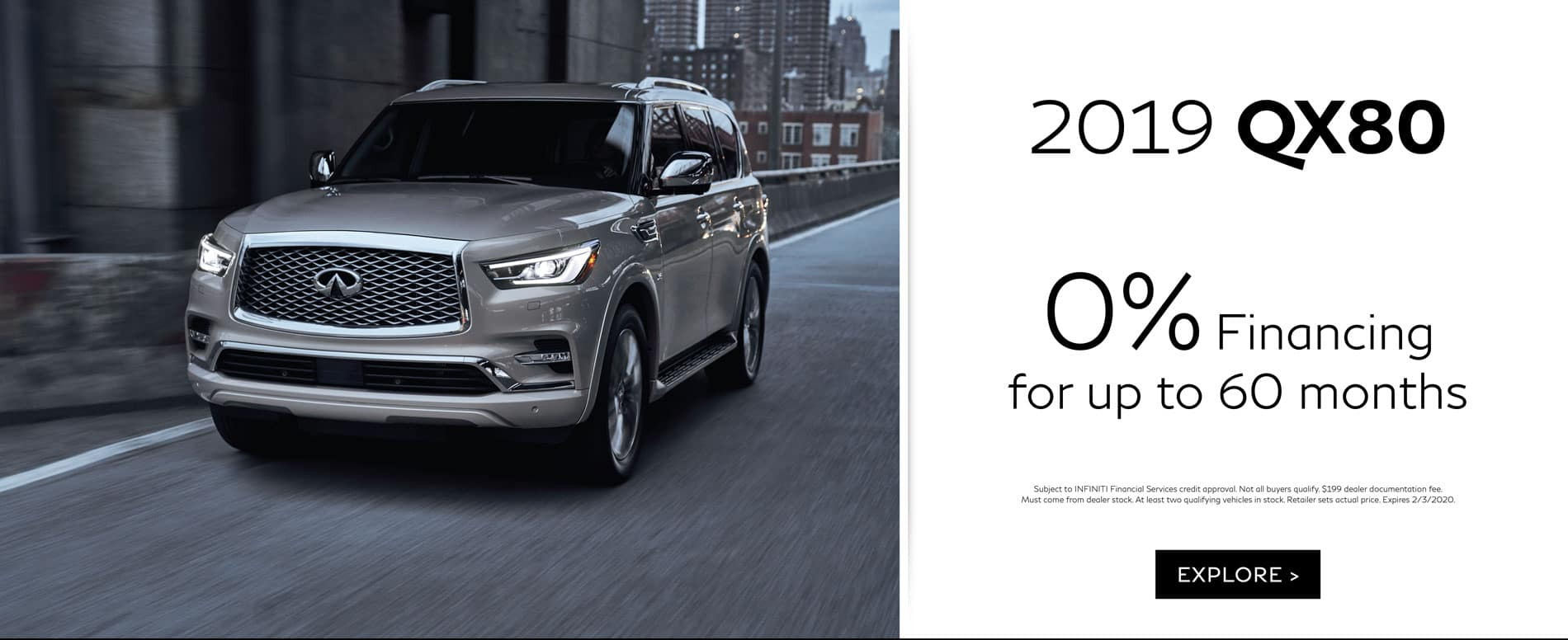 2019 QX80 January Offer | 0% APR for up to 60 months