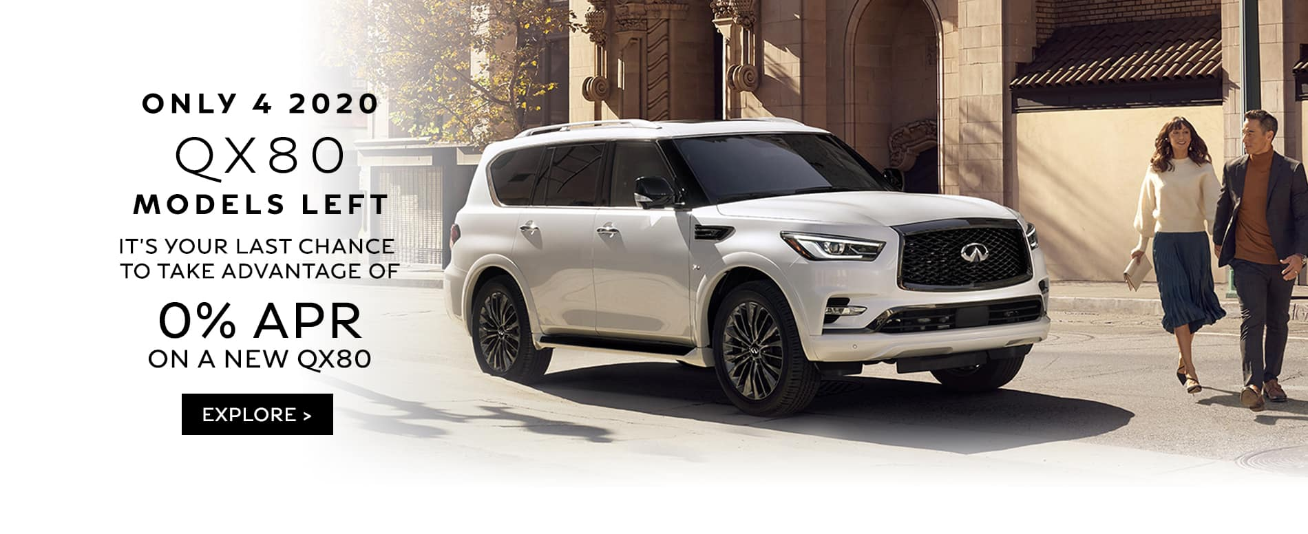 2020 QX80 0% for 72 Months