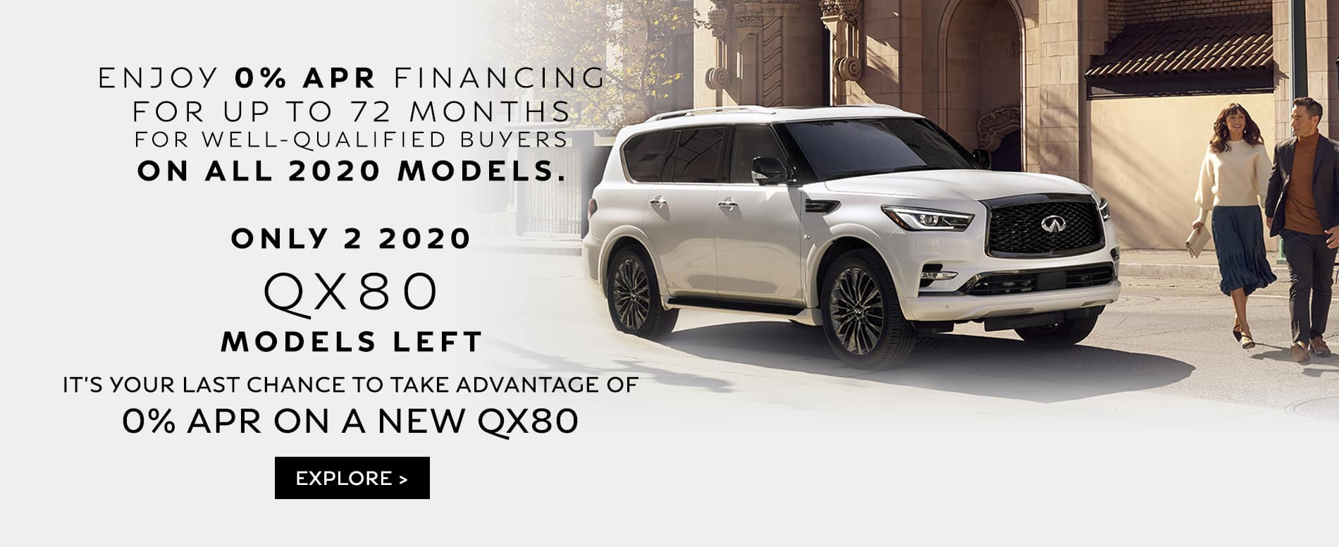 Only 2 QX80 Remaining for 0% APR