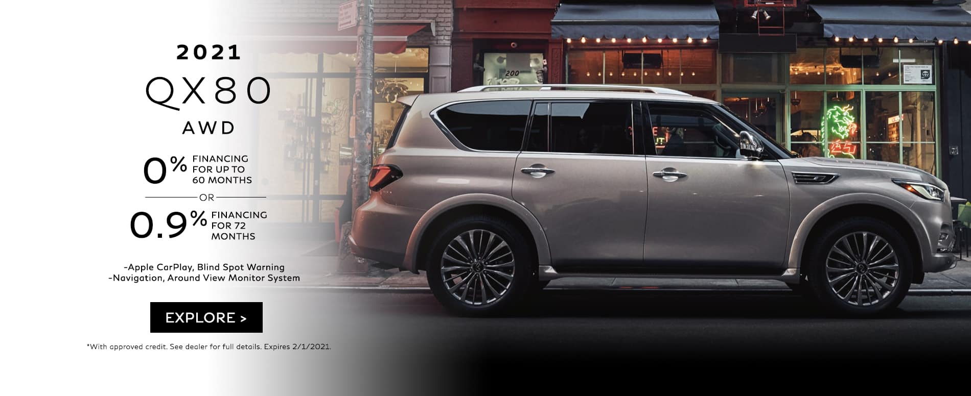 2021 QX80 Lease Offer