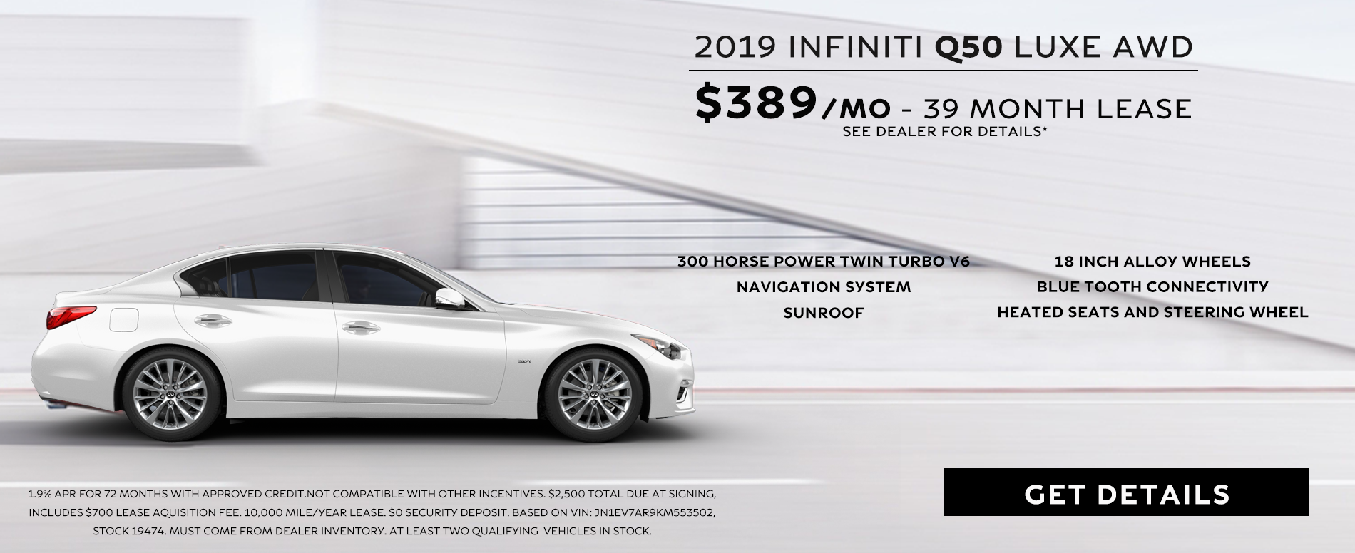 May Q50 Lease Offer
