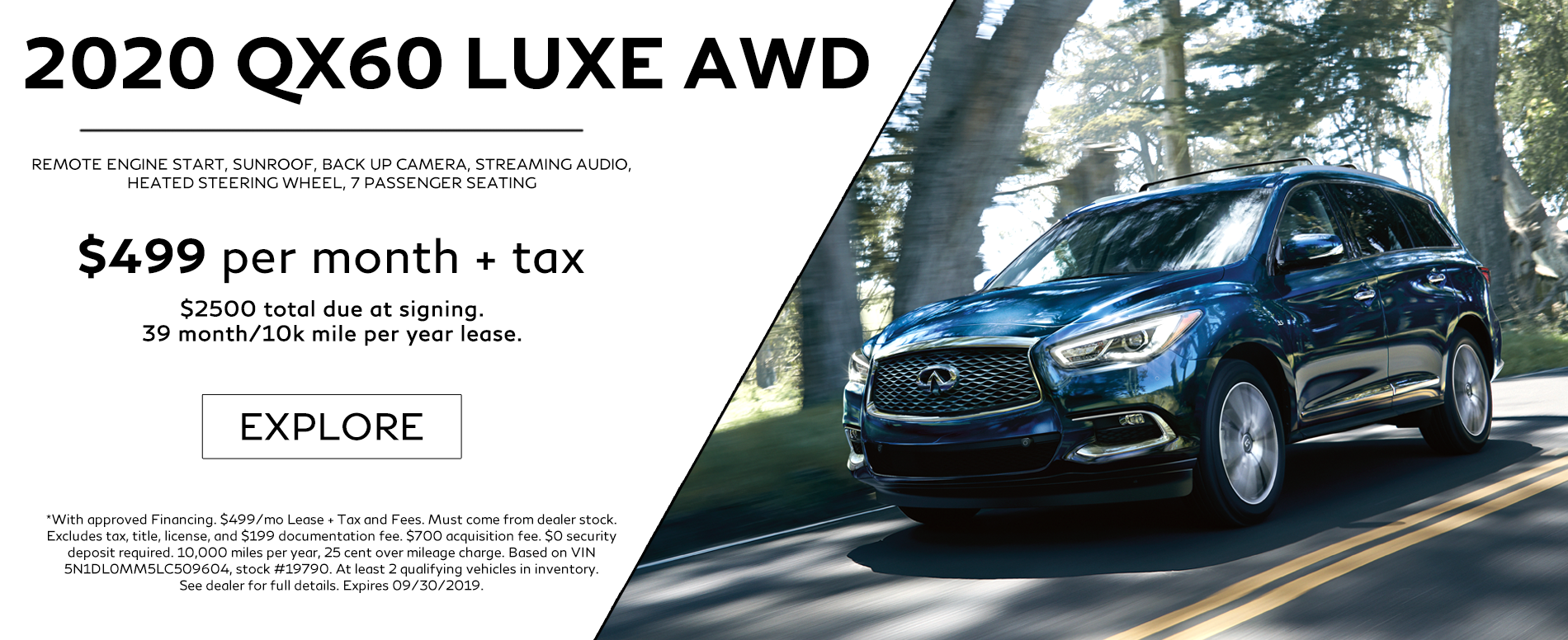 2020 QX60 Luxe AWD Lease