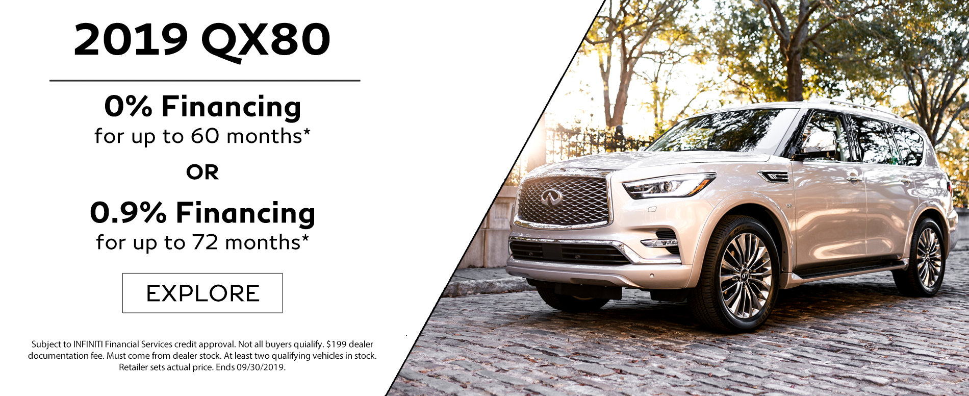 2019 QX80 0% or 0.9% Financing
