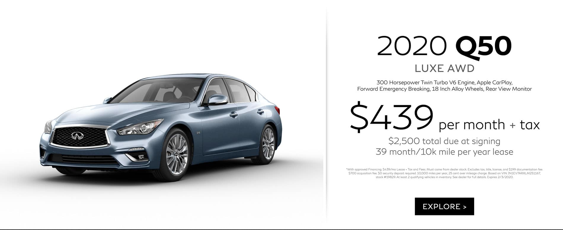 DR INFINITI South Q50 Lease Offer | $439/mo