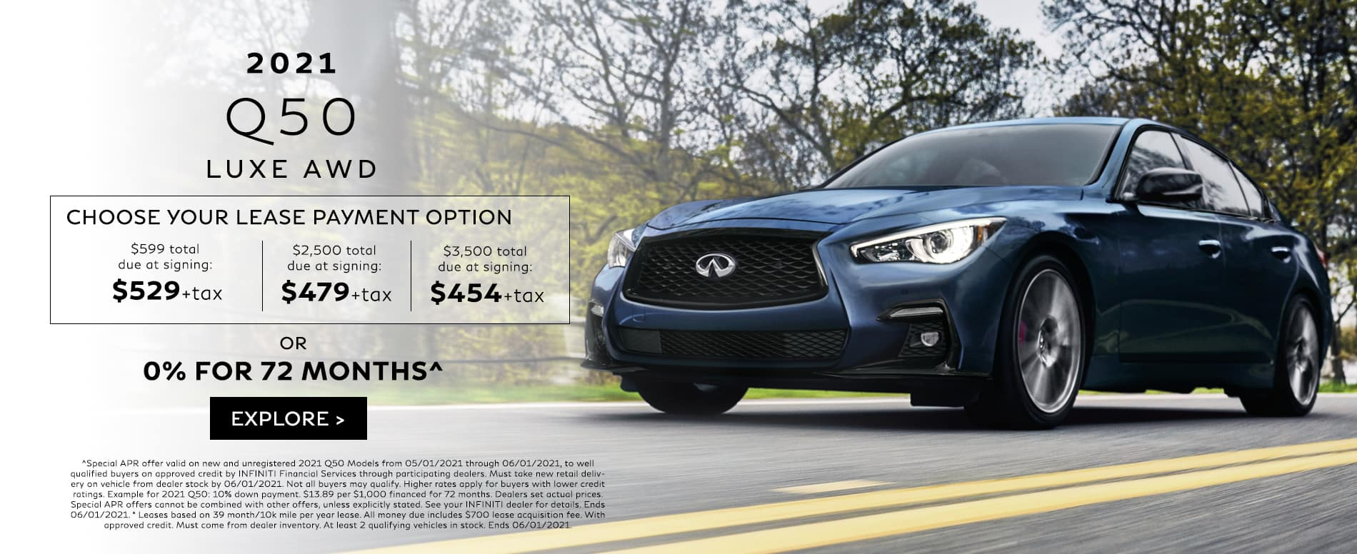 Q50 Lease Payment Options