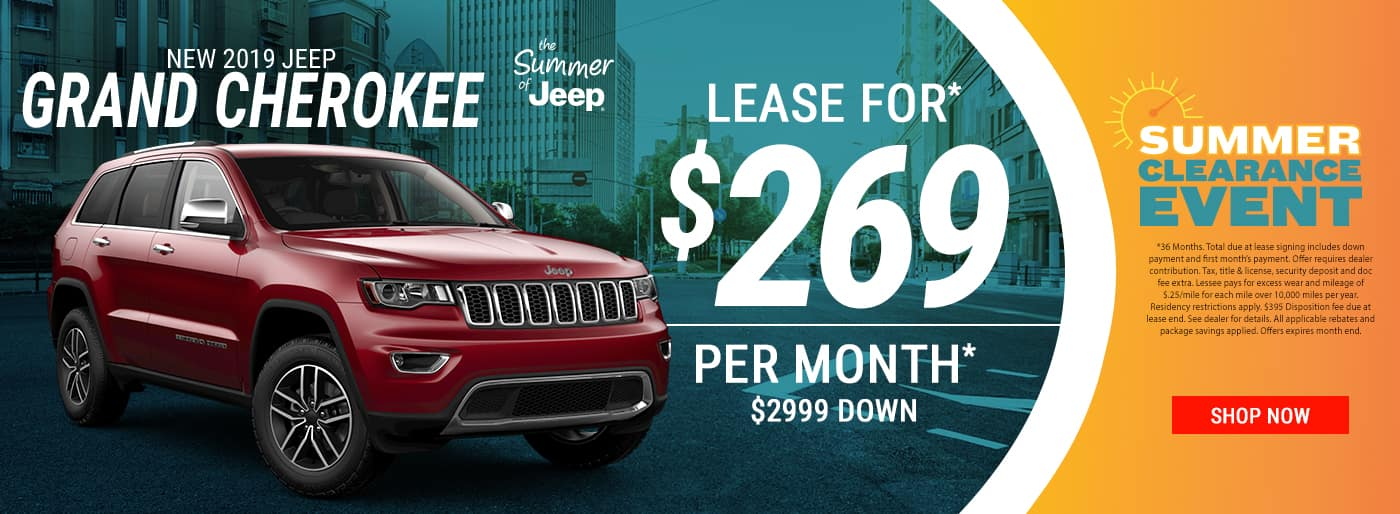 2019 Grand Cherokee $269 Per Month Lease