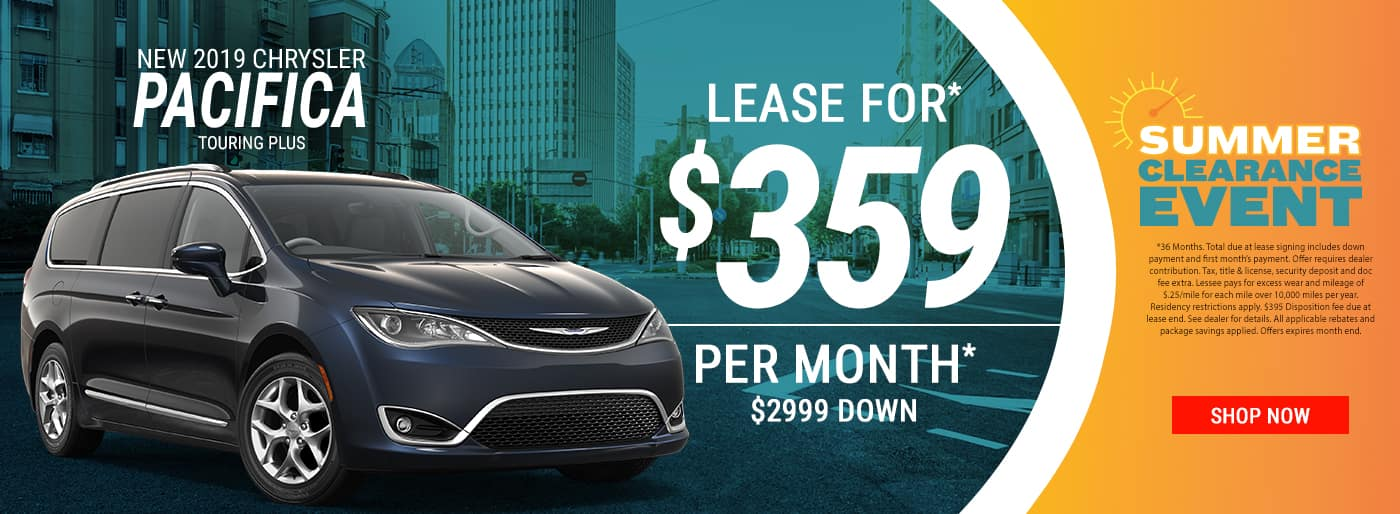 2019 Pacifica $359 Per Month Lease