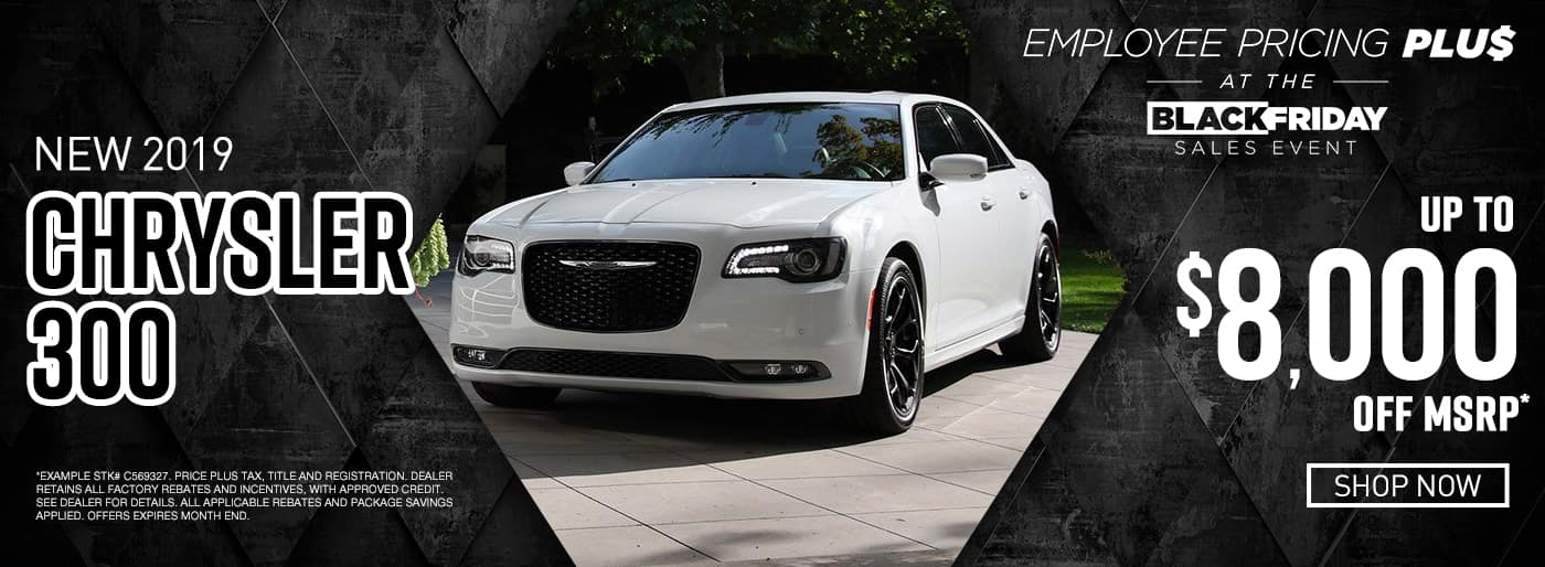 2019 Chrysler 300 up to $8,000 off msrp