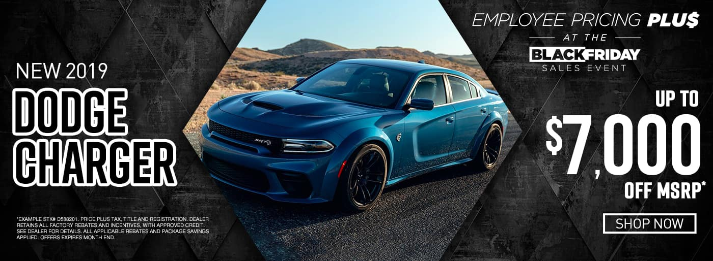 2019 Charger up to $7,000 off msrp