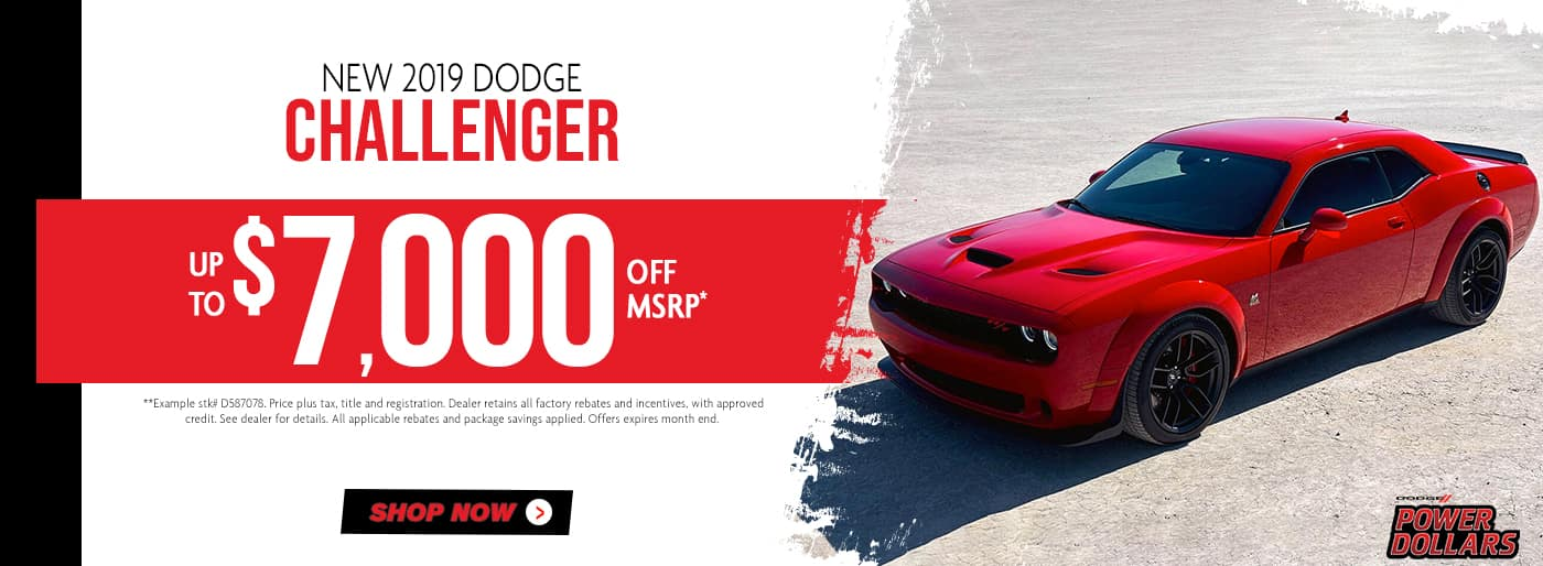 2019 Challenger up to $7,000 off msrp