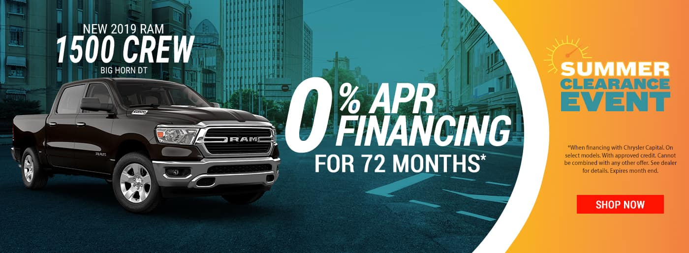 2019 Ram 1500 0% APR for 72 Months