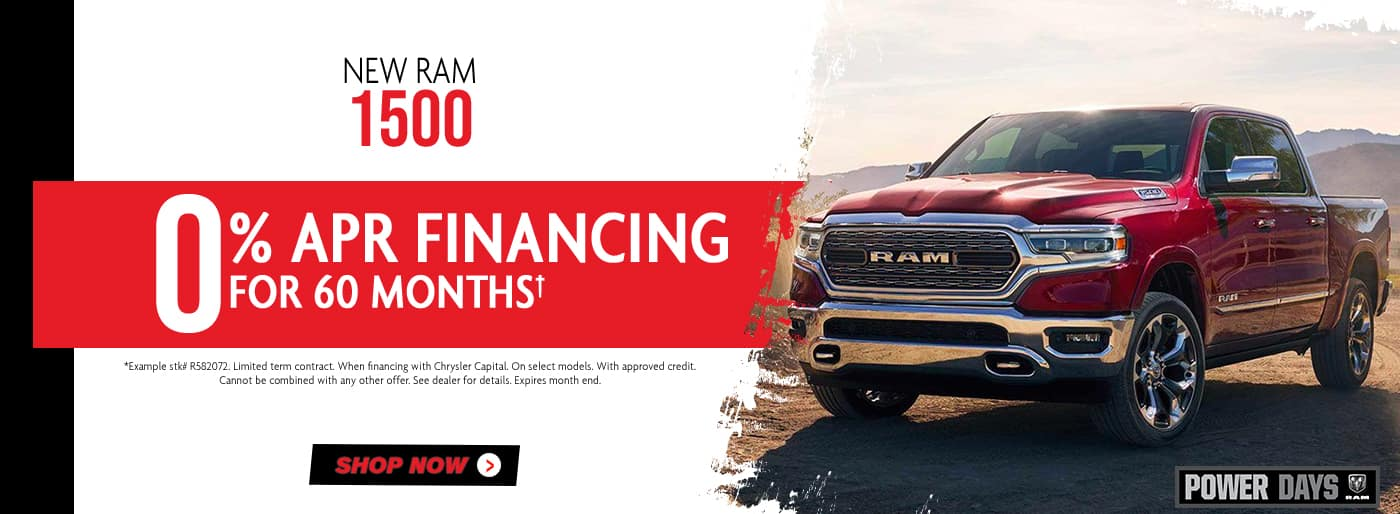 New Ram 1500 0% APR offer