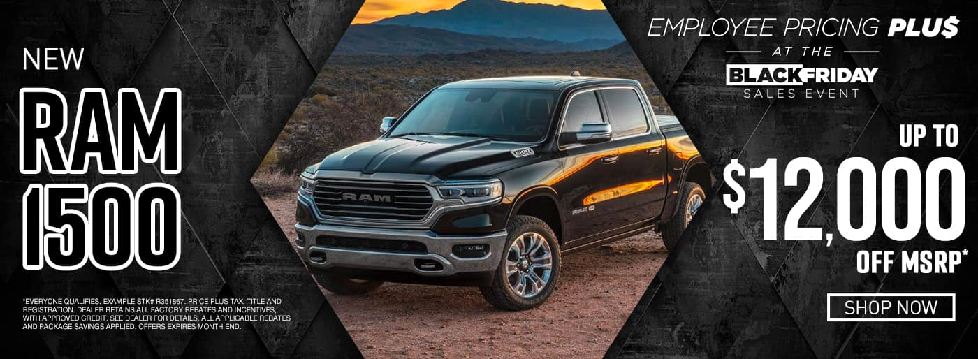 New Ram up to $12,000 off msrp
