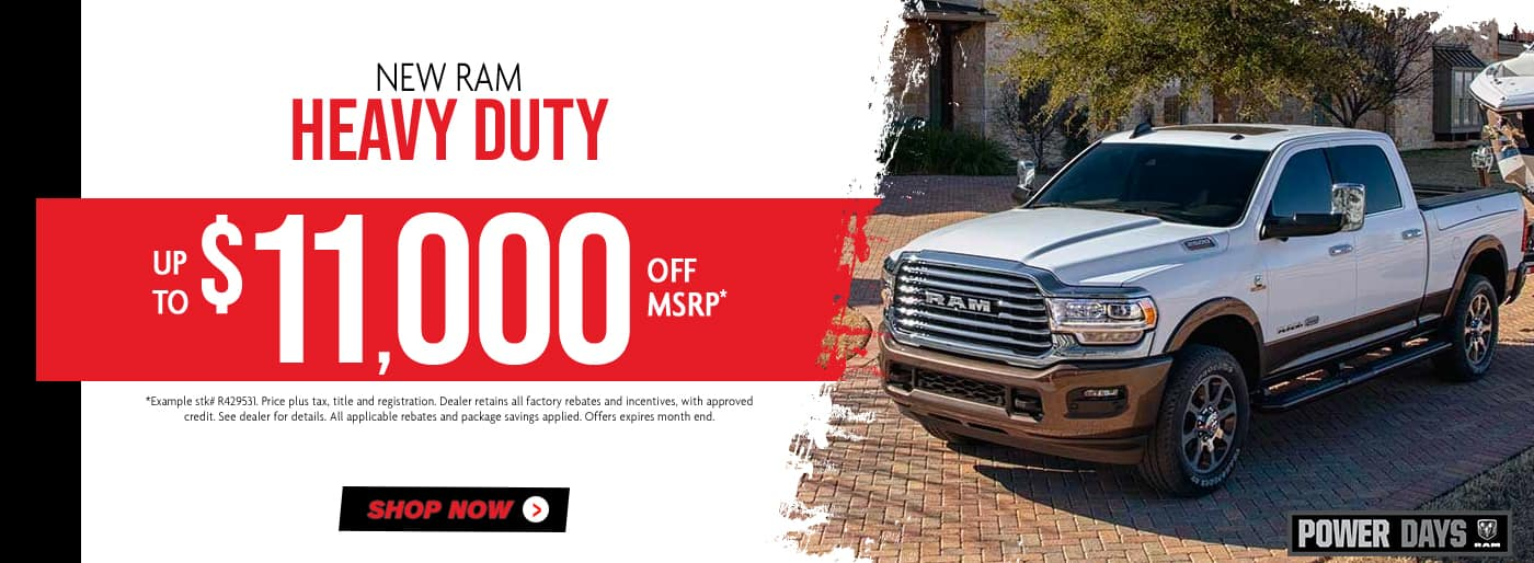 New Ram Heavy Duty, up to $11,000 off msrp