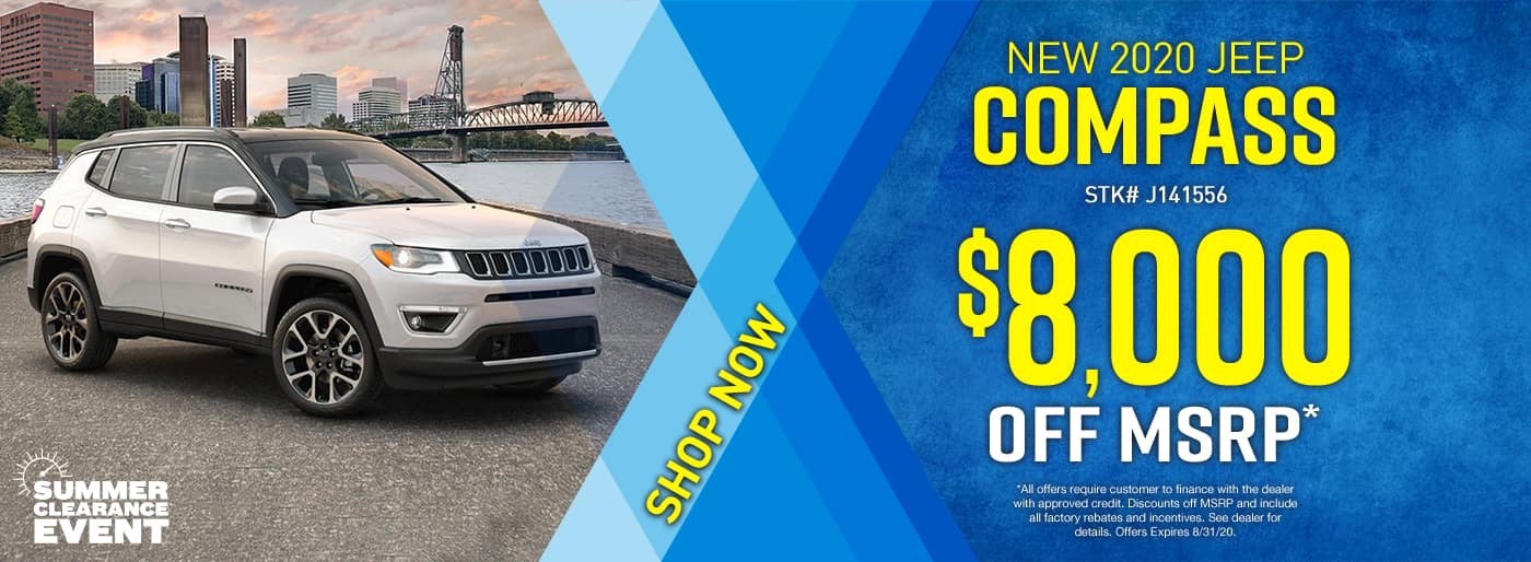 2020 Jeep Compass $8000 OFF