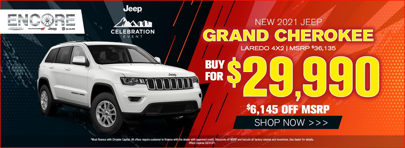 2021 Jeep Grand Cherokee Laredo 4x2 MSRP $36135 $6145 off Sale Price $29990