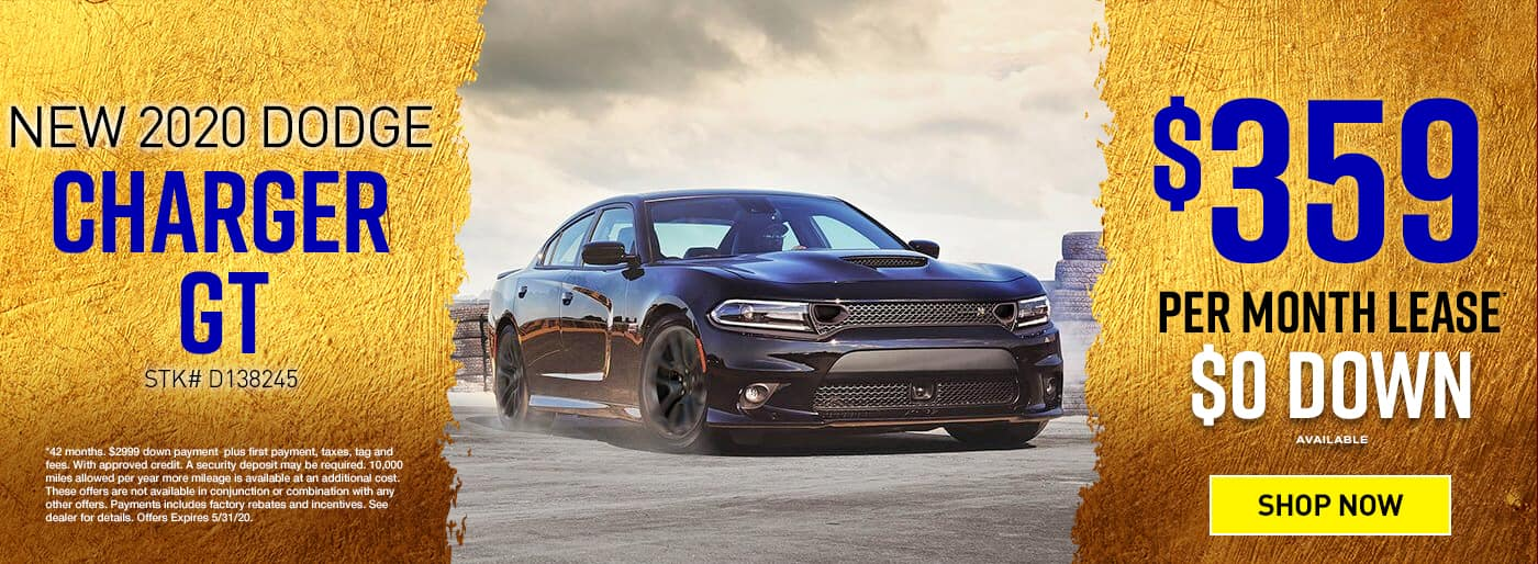2020 DODGE CHARGER $359 PER MO $0 DOWN