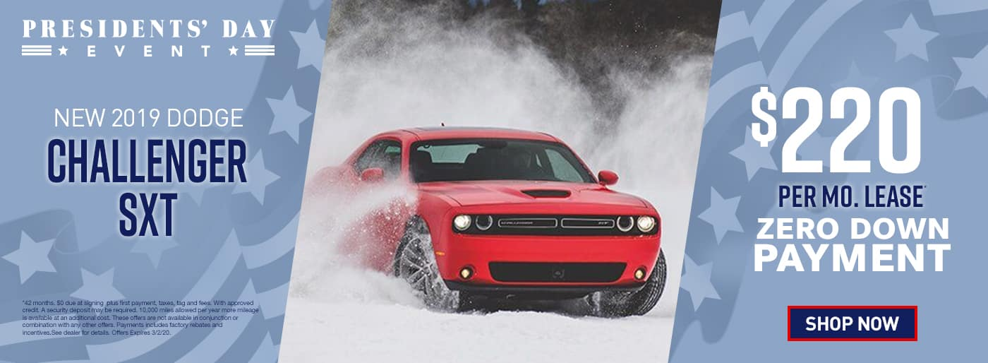 2019 Challenger SXT$220 Per Month 42 Months/10k Miles $0 Due at signing