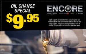 Oil Change $9.95
