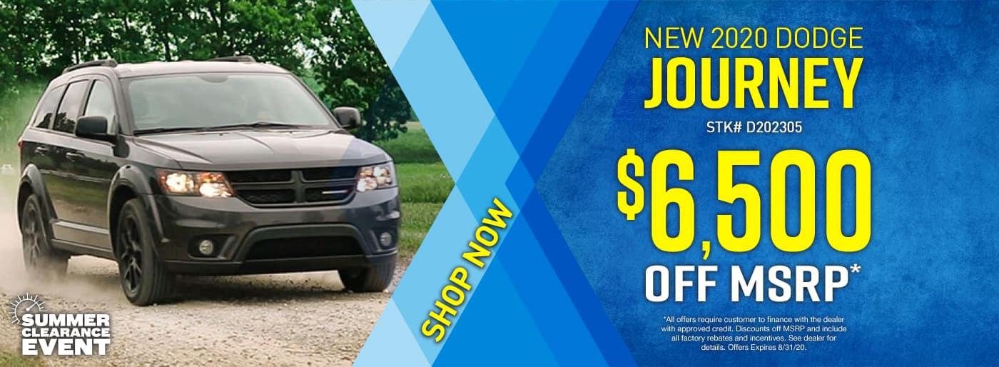 2020 Dodge Journey…$6500 off