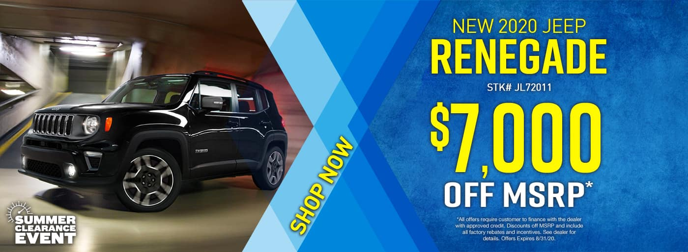 2020 Jeep Renegade $7000 off
