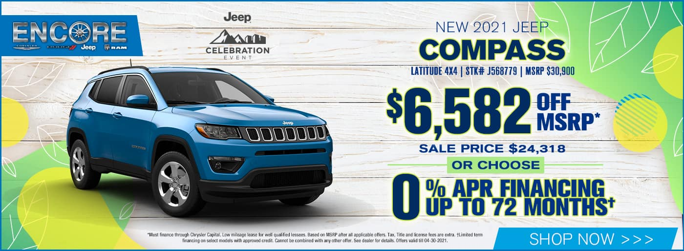 2021 JEEP COMPASS LATITUDE 4X4 $6,582 off msrp