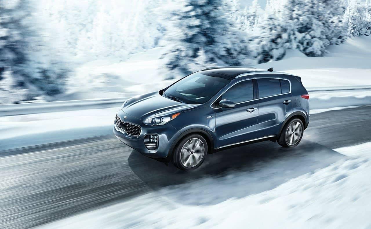2019 Kia Sportage AWD in snow