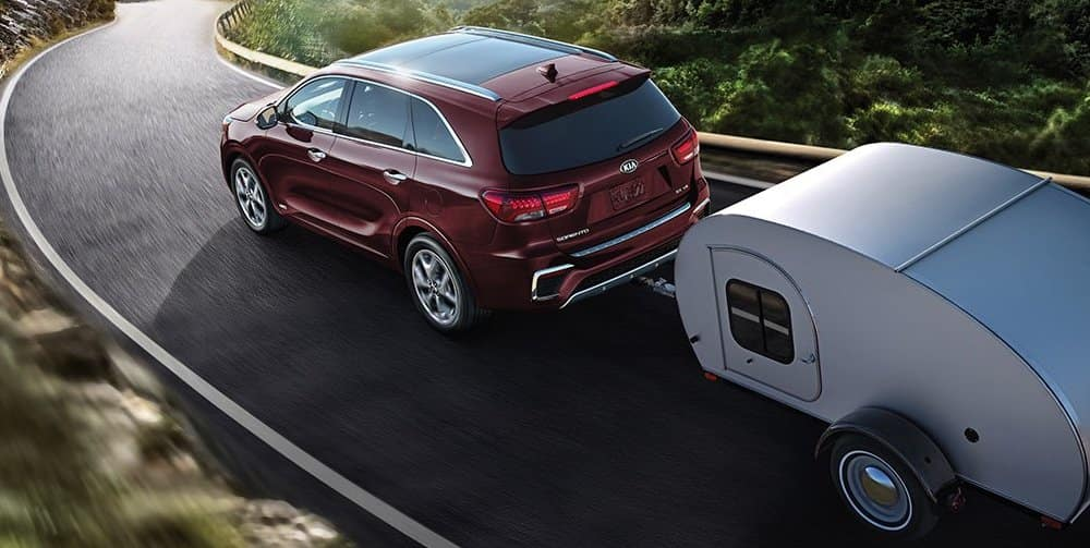 2019 Kia Sorrento Towing a Camper