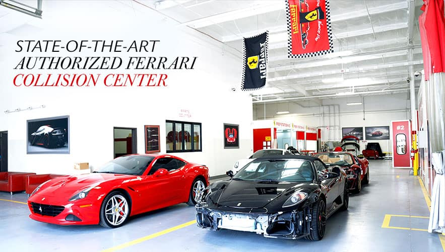 Newport Ferrari Collision Center interior