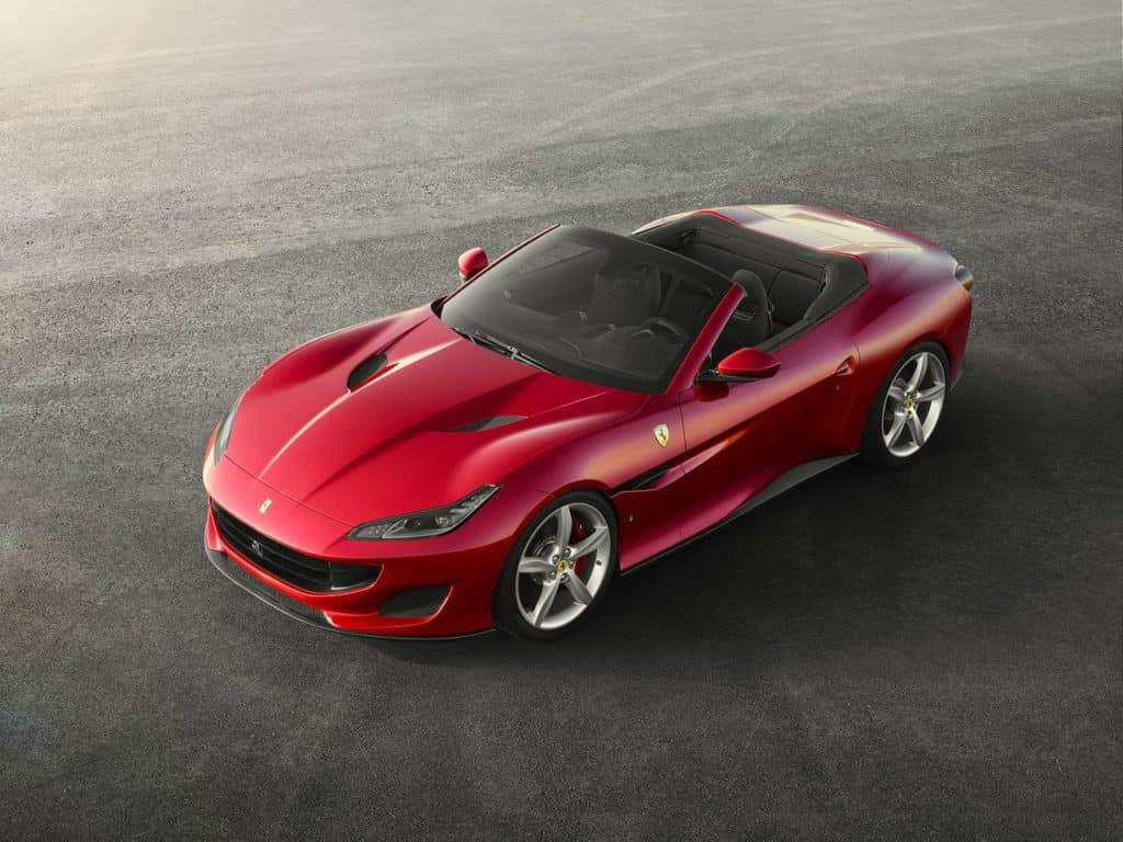 red Ferrari Portofino