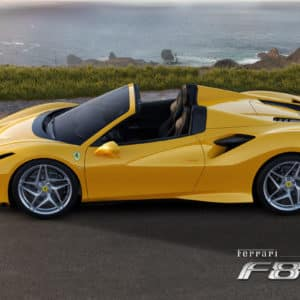 Ferrari F8 Spider side view