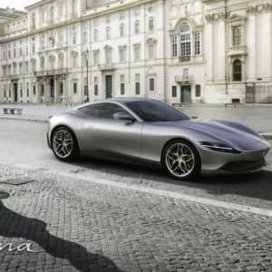Ferrari Roma outside