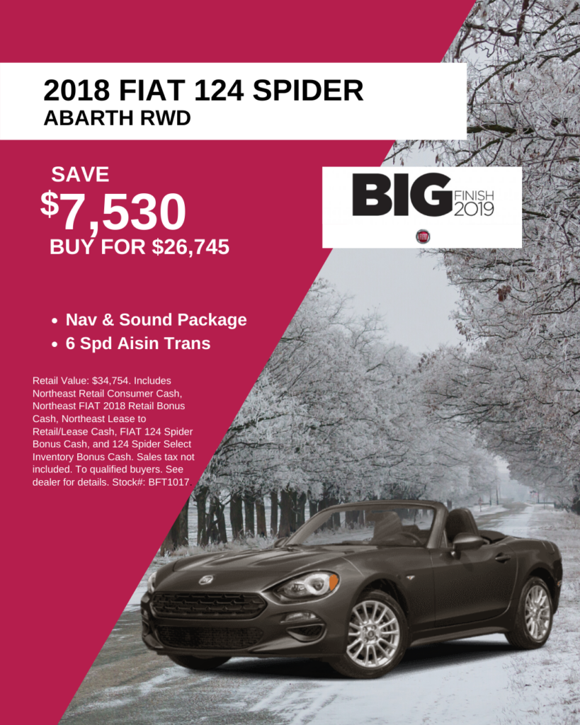 New 2018 FIAT 124 Spider Abarth