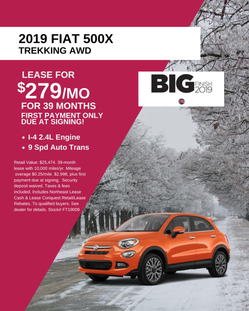 New 2019 FIAT 500X Trekking AWD