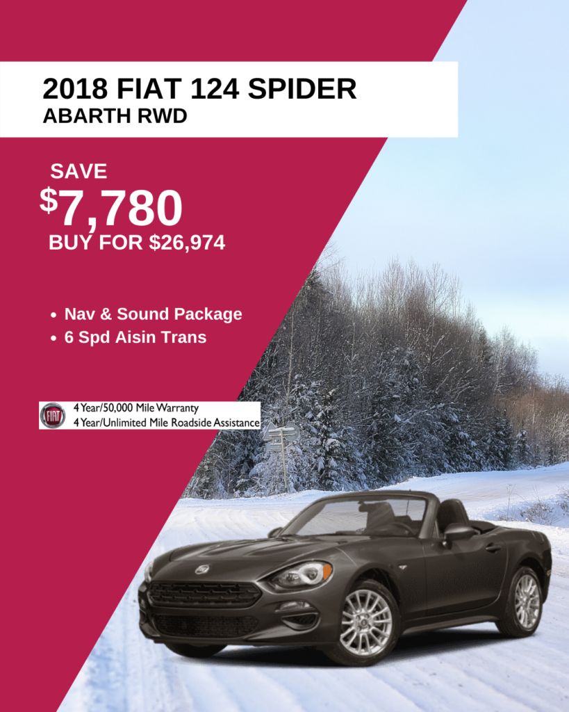 2018 FIAT 124 Spider Abarth With Navigation