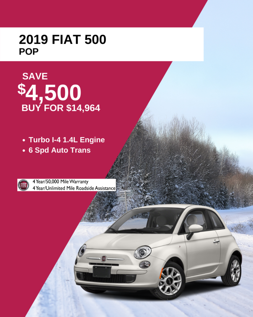 New 2019 FIAT 500 Pop FWD Hatchback