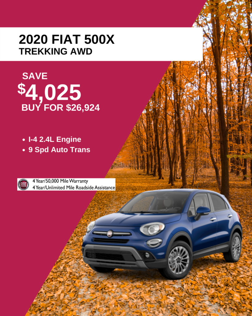 New 2020 FIAT 500X Trekking With Navigation & AWD