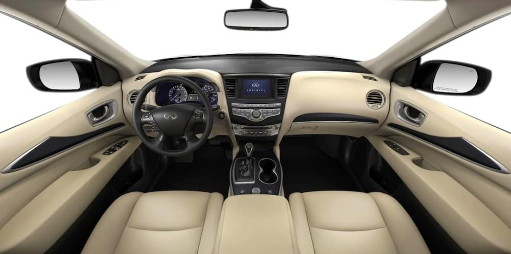 2019 INFINITI QX60 interior with leather seats and trim