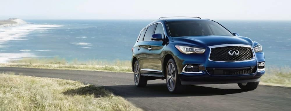 2019 INFINITI QX60 in blue by the seaside