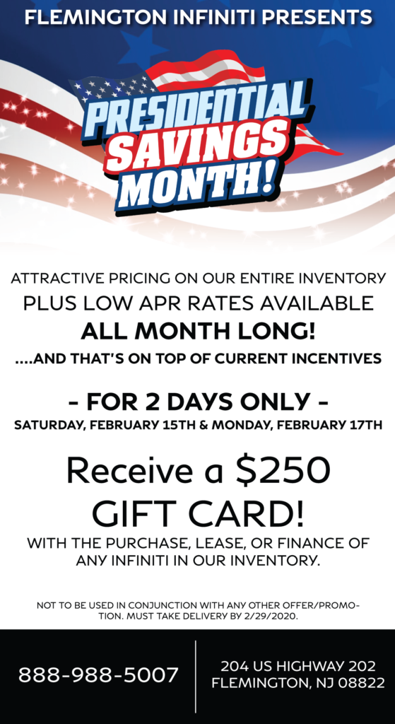 Presidents Day Event Promotion