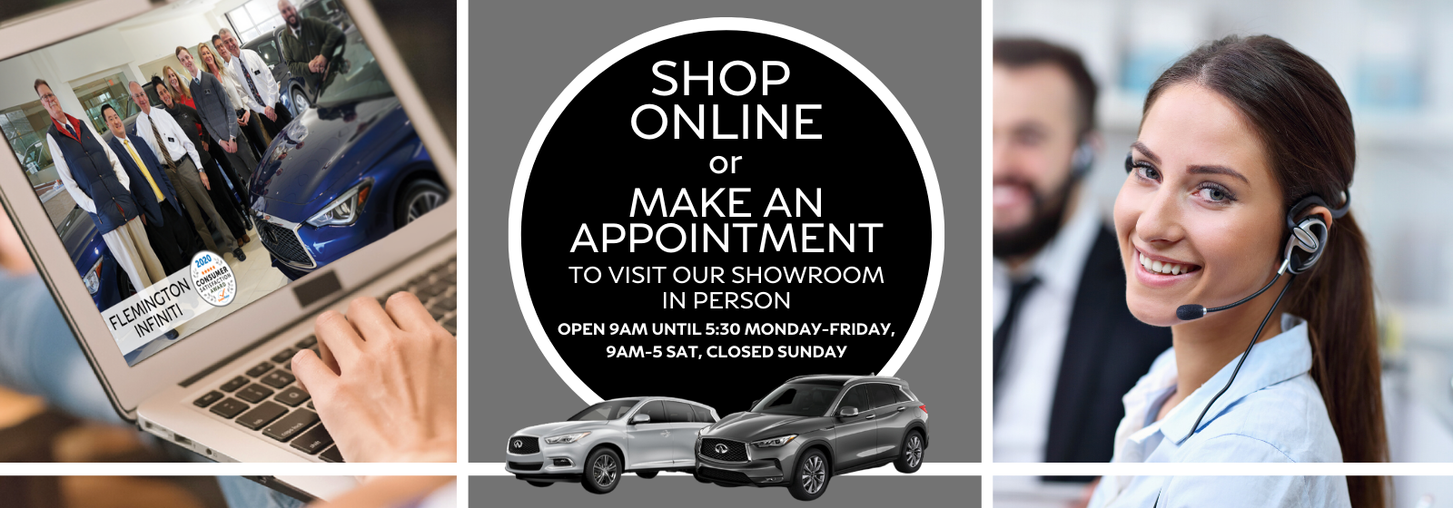 Shop Online or Make and Appointment in Person